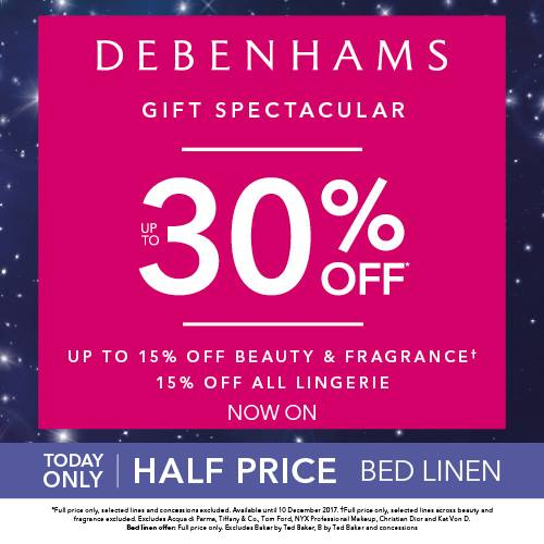 Debenhams gift spectacular up to 30 off whitewater shopping debenhams gift spectacular up to 30 off negle Gallery